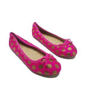 Cat & Jack Girls Hot Pink Ballet Flats